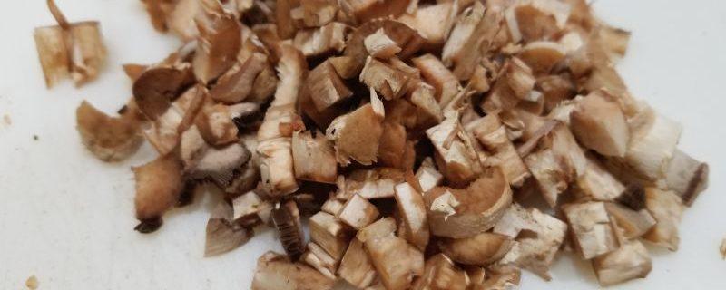 Chopped Mushroom Stems