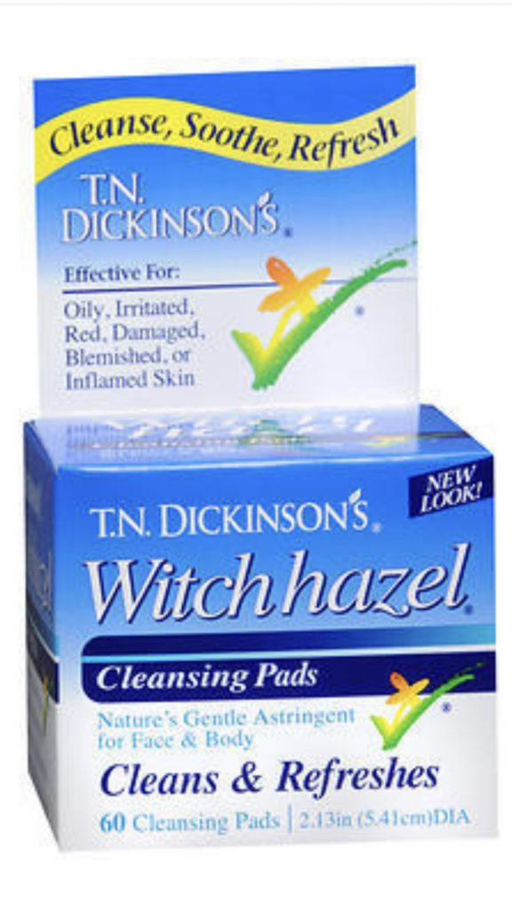 Witch hazel pads