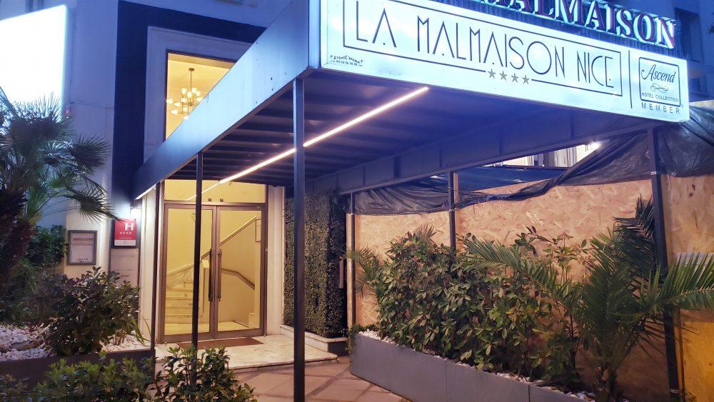 La Malmaison Hotel Entrance Nice France