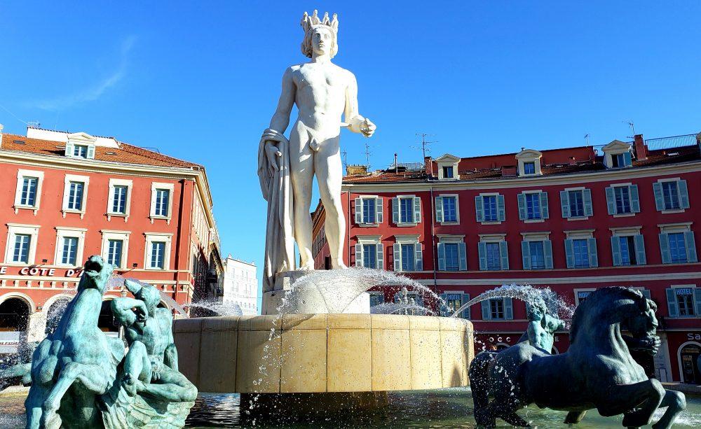 Fontaine du Soleil (Fountain of the Sun) Nice France