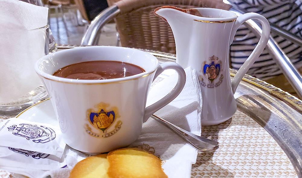 Cafe Florian Hot Chocolate Venice Italy