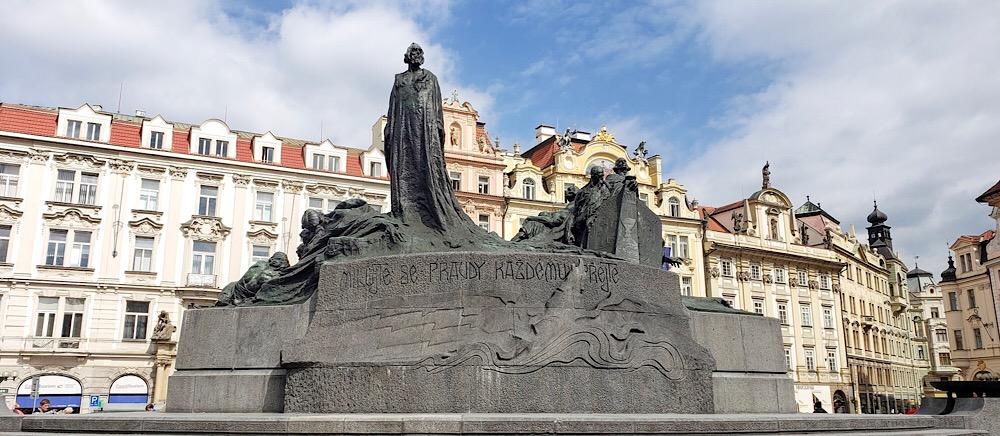 Jan Hus Monument Prague Czech Republic