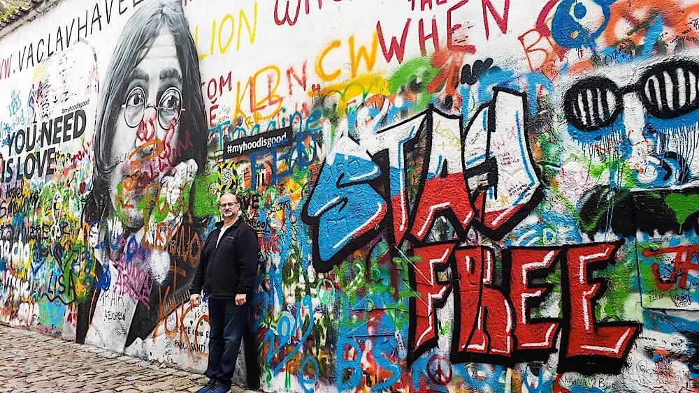 John Lennon Wall Prague Czech Republic