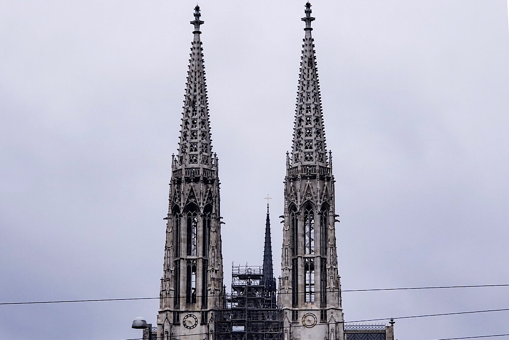 The Votivkirche Double Tower Church Vienna Austria