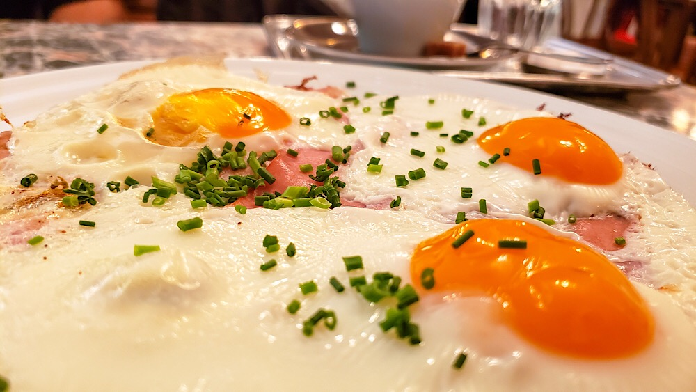 Cafe Diglas Kraftiges Fruhstuck eggs ham bacon Vienna Austria