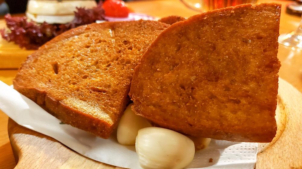 Garlic Toast Kolkovna (Olympia) Prague, Czech Republic