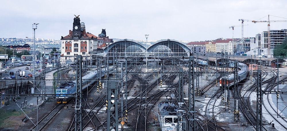 Train Station Prague Czech Republic