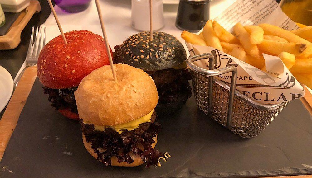 Emile Restaurant Vienna Austria Trio of Beef Burgers