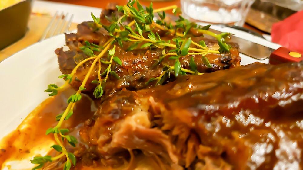 Roasted Beef Rib Svateho Vaclava Prague Czech Republic
