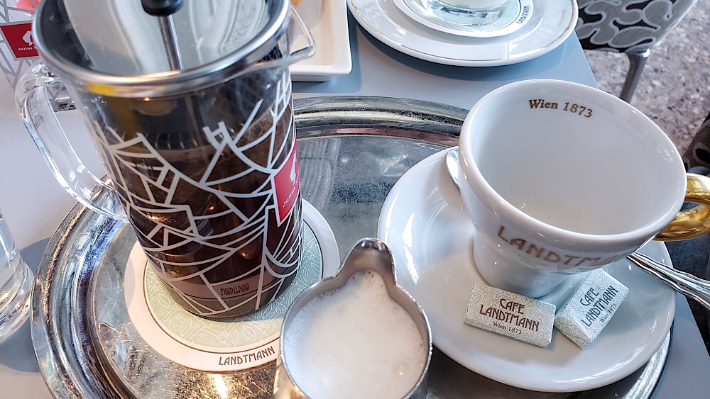 Cafe Landtmann French Press Coffee Vienna Austria