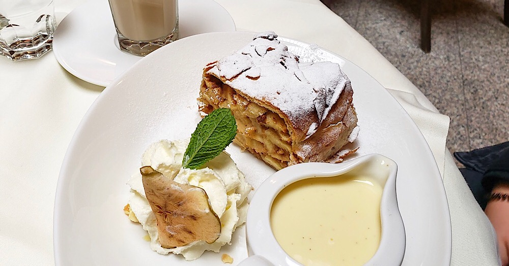 Cafe Central Viennese Apple Strudel Vienna Austria