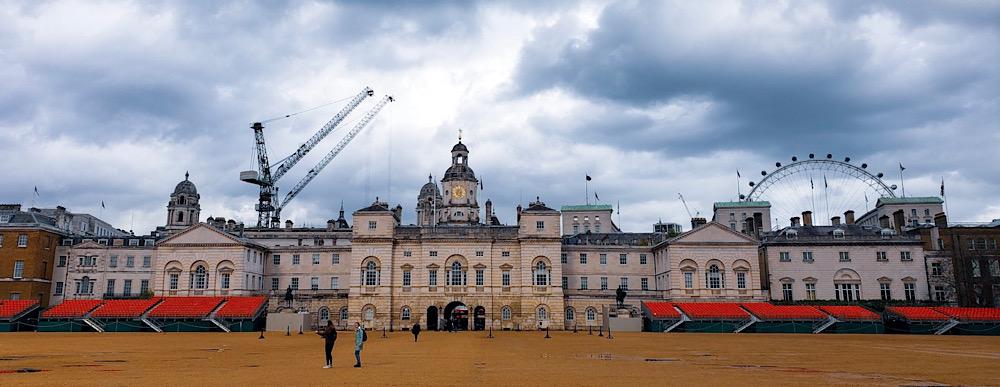 Horse Guard Parade at Whitehall London UK