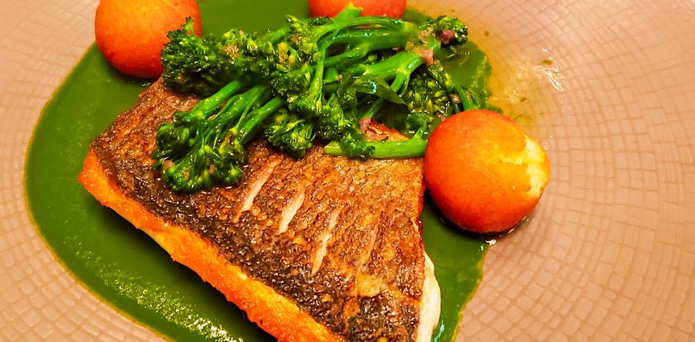Galvin La Chapelle Seared Sea Bream (fish) London UK